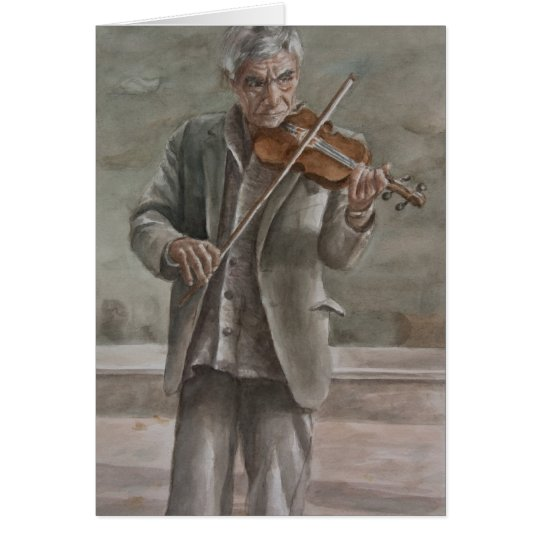 Jugador del violín, Subotica Tarjeta De Felicitación