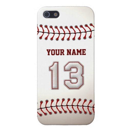 Jugador número 13 - puntadas frescas del béisbol iPhone 5 fundas