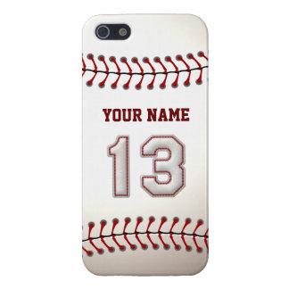 Jugador número 13 - puntadas frescas del béisbol iPhone 5 carcasas