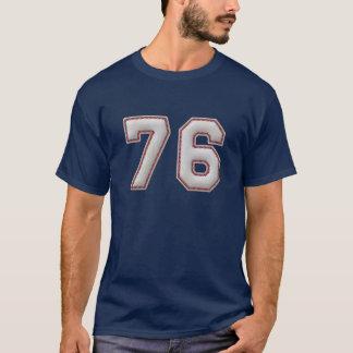 Jugador número 76 - puntadas frescas del béisbol camiseta