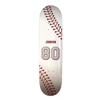 Jugador número 80 - puntadas frescas del béisbol tabla de patinar