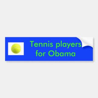 Jugadores de tenis para Obama Pegatina Para Coche