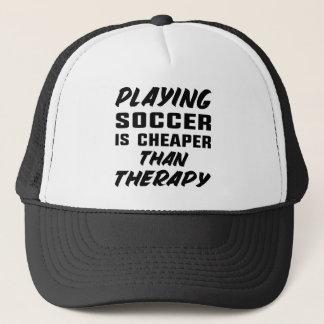 Jugar a fútbol es más barato que terapia gorra de camionero