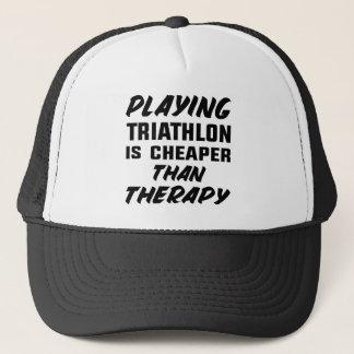 Jugar a Triathlon es más barato que terapia Gorra De Camionero