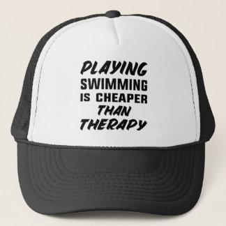 Jugar la natación es más barato que terapia gorra de camionero