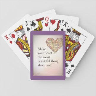 Jugar tarjetas de juegos del corazón del amor barajas de cartas