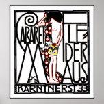 Jugendstil - poster de Nouveau del arte: Cabaret F