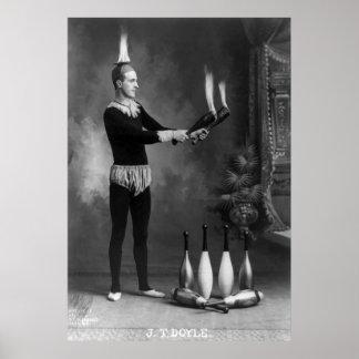 Juglar caliente, 1900s tempranos póster