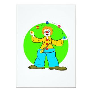 Juglar del payaso invitación 12,7 x 17,8 cm