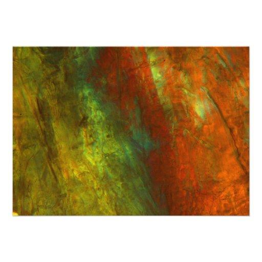 Jugo de naranja congelado debajo del microscopio comunicado