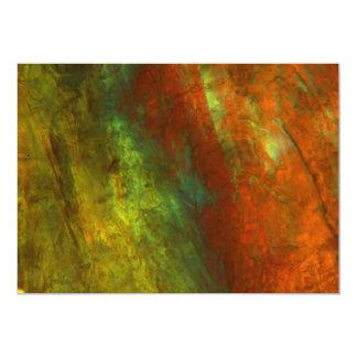 Jugo de naranja congelado debajo del microscopio invitación 12,7 x 17,8 cm