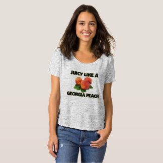 Jugoso como una camiseta del melocotón de Georgia