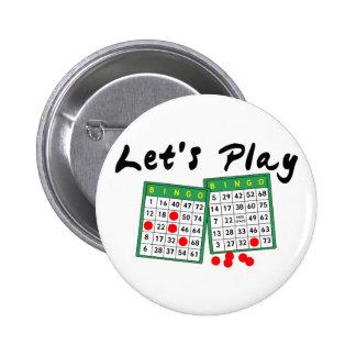 Juguemos el bingo chapa redonda de 5 cm