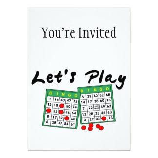 Juguemos el bingo invitación 12,7 x 17,8 cm