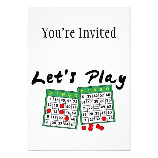 Juguemos el bingo invitacion personalizada