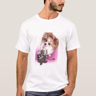 Juguete del bebé del perrito del perro de Papillon Camiseta