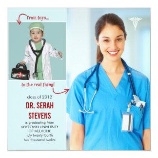 Juguetes al doctor real Medical Graduation Invitación 13,3 Cm X 13,3cm