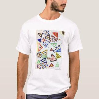 Juguetón, colorido, ingenioso, camisa de la