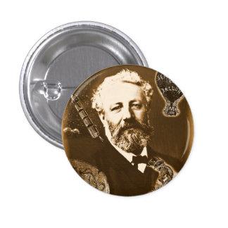 Jules Verne tributo Chapa Redonda De 2,5 Cm