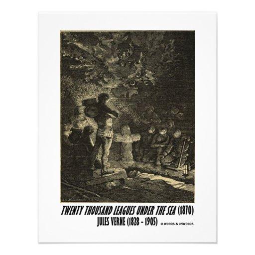 Jules Verne veinte mil ligas fúnebres Invitaciones Personalizada