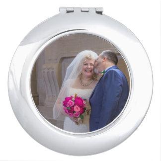 Julia + Espejo del acuerdo del boda de Brett Espejos Para El Bolso