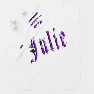 Julia, nombre, logotipo, del blanco manta del bebé