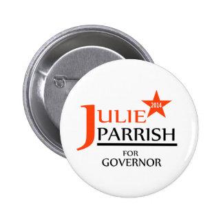 Julia Parrish para el perno del gobernador Chapa Redonda De 5 Cm