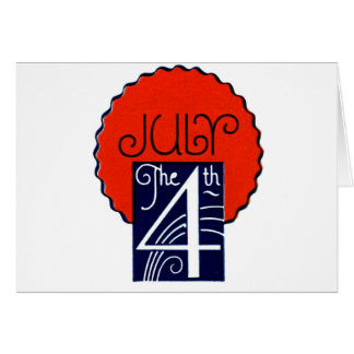 Julio el 4to Día de la Independencia patriótico Tarjeta De Felicitación