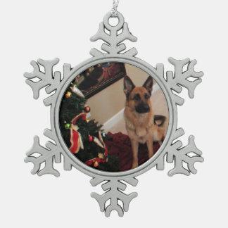 Julkort de Schäfer Adorno De Peltre En Forma De Copo De Nieve