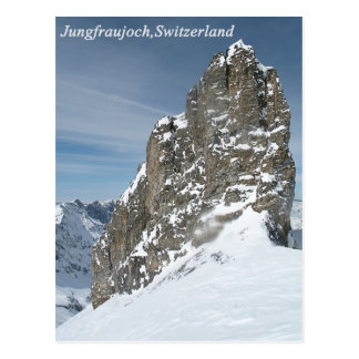 Jungfraujoch, postal de Suiza
