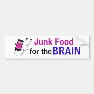 """""""Junk Food para pegatina del cerebro"""""""