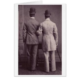 Junto para siempre tarjeta de felicitación gay de