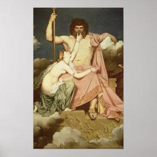 Júpiter y Thetis, 1811 Poster