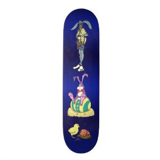 Jus Chillin Pascua: Conejito, tipo fresco y pollue Monopatín 18,7 Cm