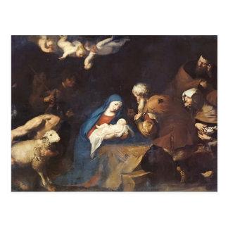 Jusepe de Ribera- Adoration de los pastores Postal