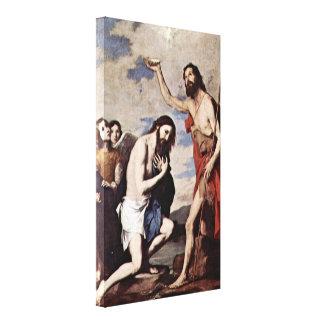 Jusepe de Ribera - bautismo de Cristo Lona Envuelta Para Galerías