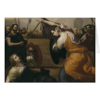 Jusepe Ribera- el duelo de mujeres Felicitación