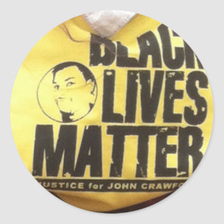 Justicia negra de las materias de las vidas para pegatina redonda