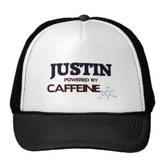 Justin accionó por el cafeína gorras de camionero