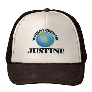 Justine más grande del mundo gorras