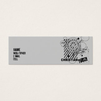 Juventud cristiana tarjeta de visita pequeña