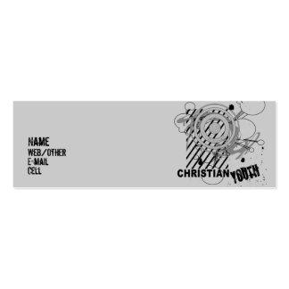 Juventud cristiana tarjetas de visita mini