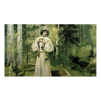 Juventud de Mikhail Nesterov- de St. Sergius Plantilla De Tarjeta De Visita