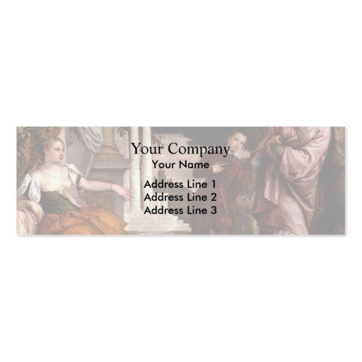 Juventud de Pablo Veronese- entre la virtud y el v Plantillas De Tarjetas Personales
