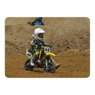 Juventud del motocrós invitación 12,7 x 17,8 cm