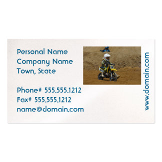 Juventud del motocrós tarjetas de visita