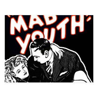 Juventud enojada del jazz del vintage del kitsch postal