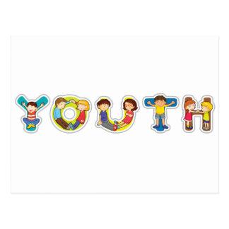 juventud inglesa de la palabra postal