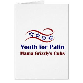 Juventud para los productos de Palin Felicitaciones