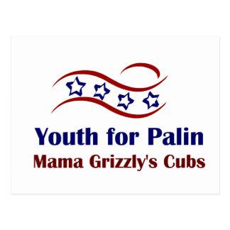 Juventud para los productos de Palin Tarjetas Postales